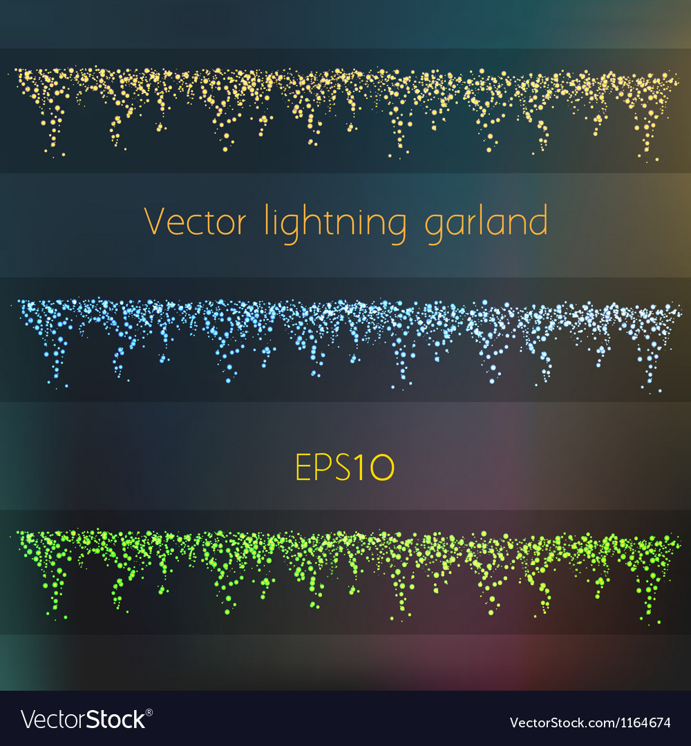 014 lightning garland vector