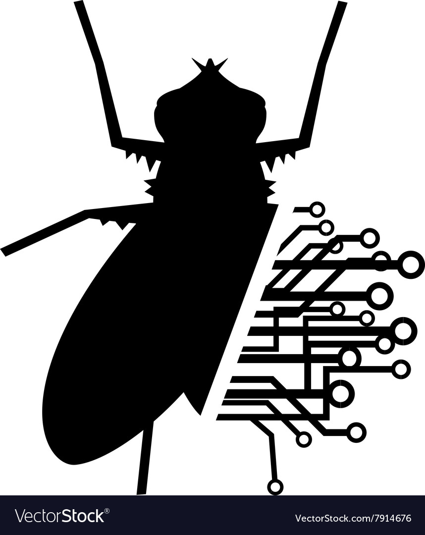 Fly tech vector