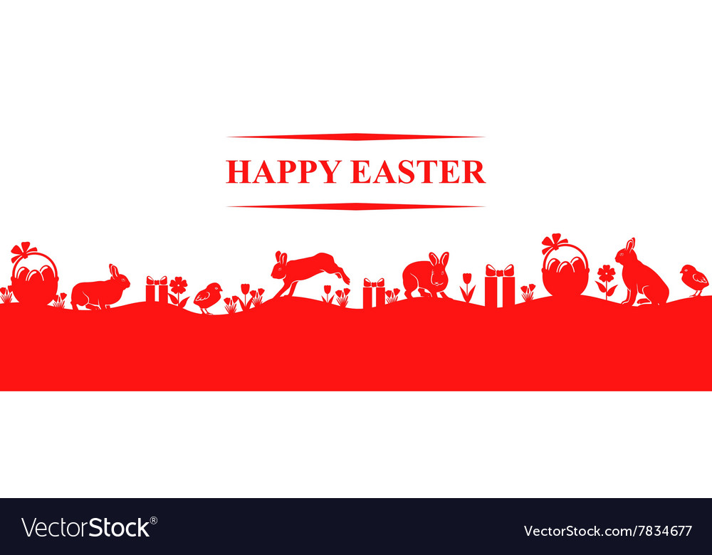 Easter hare meadow vector