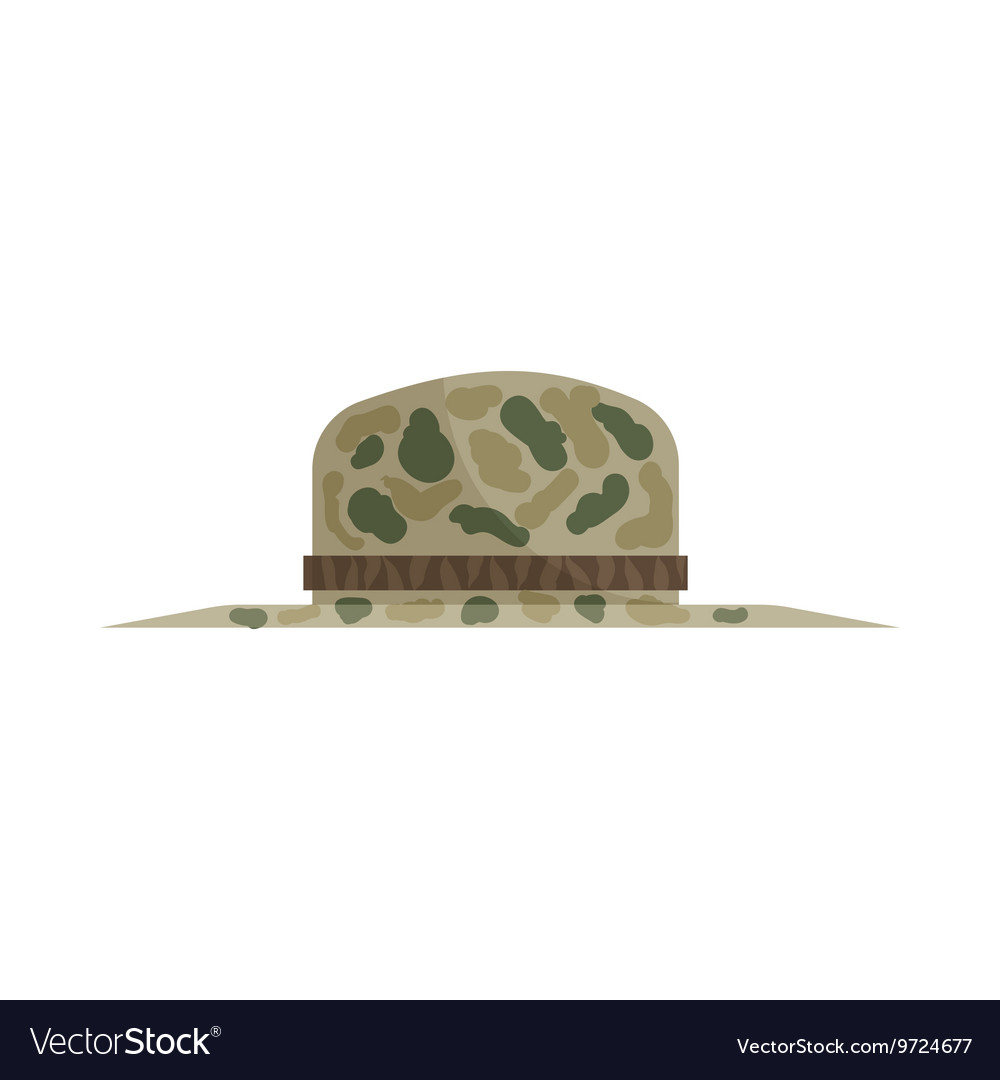 Hat of hunter icon cartoon style vector