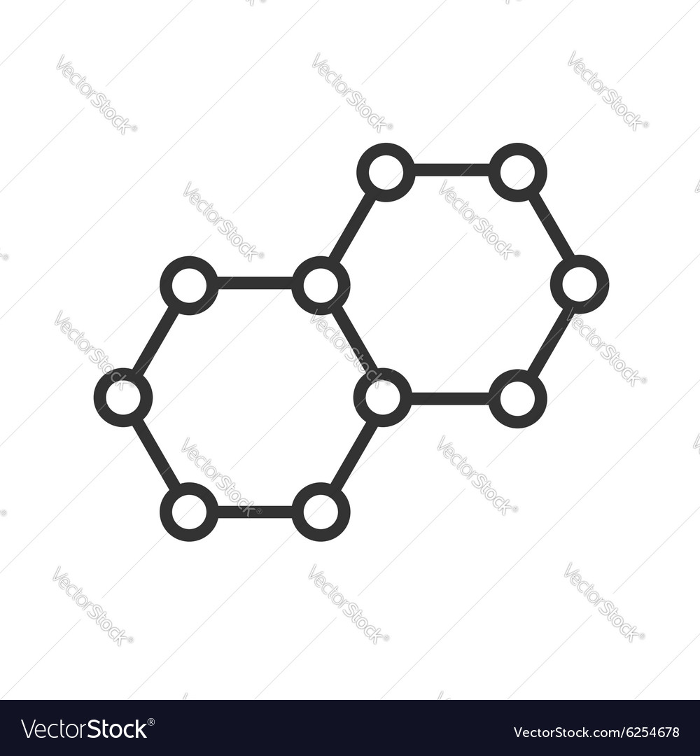Icon molecules vector