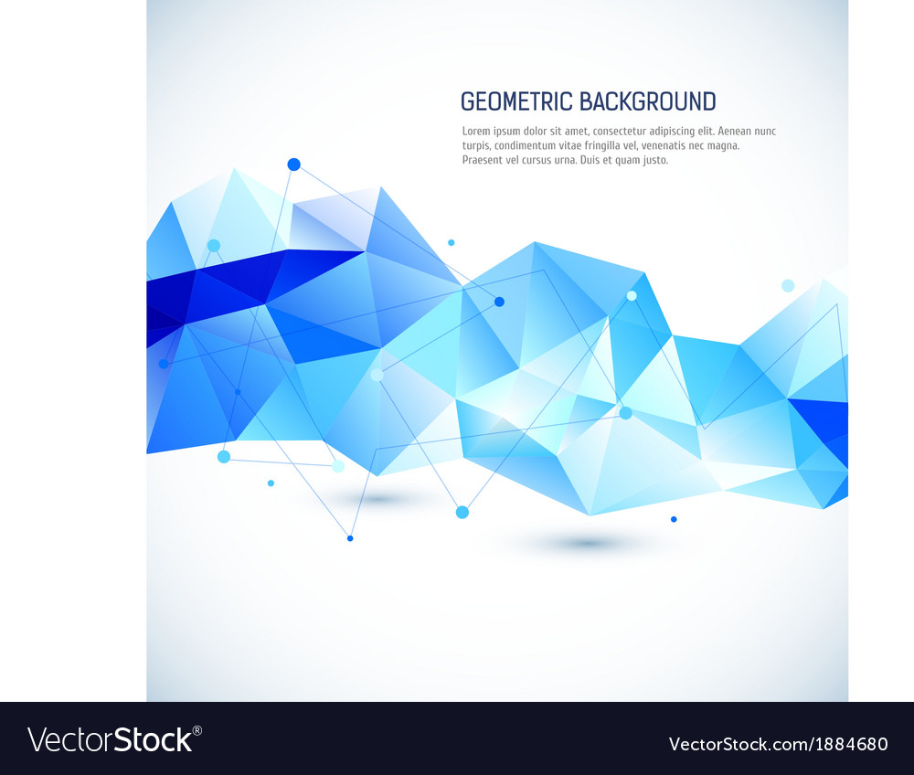 Abstract 3d geometric background vector
