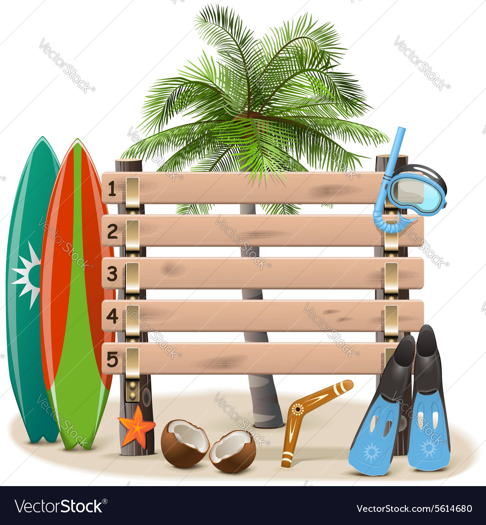 Beach rating scoreboard vector