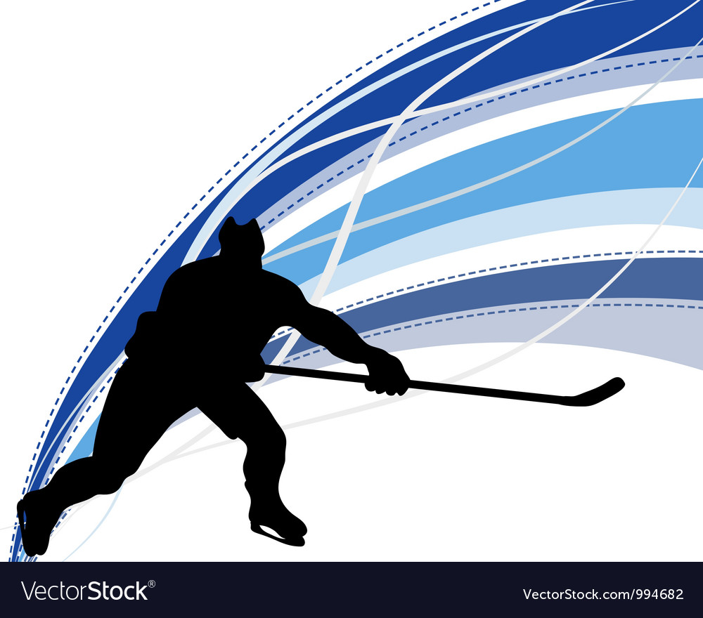 Hockey background vector