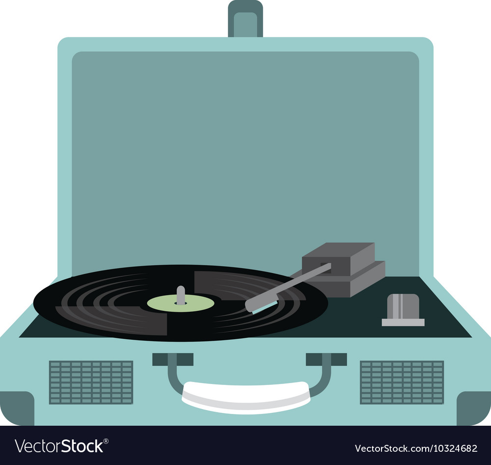 Old music player isolated icon vector