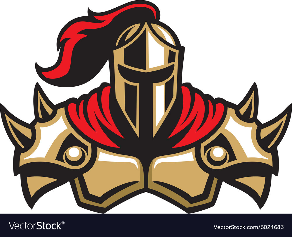 Knight warrior mascot vector