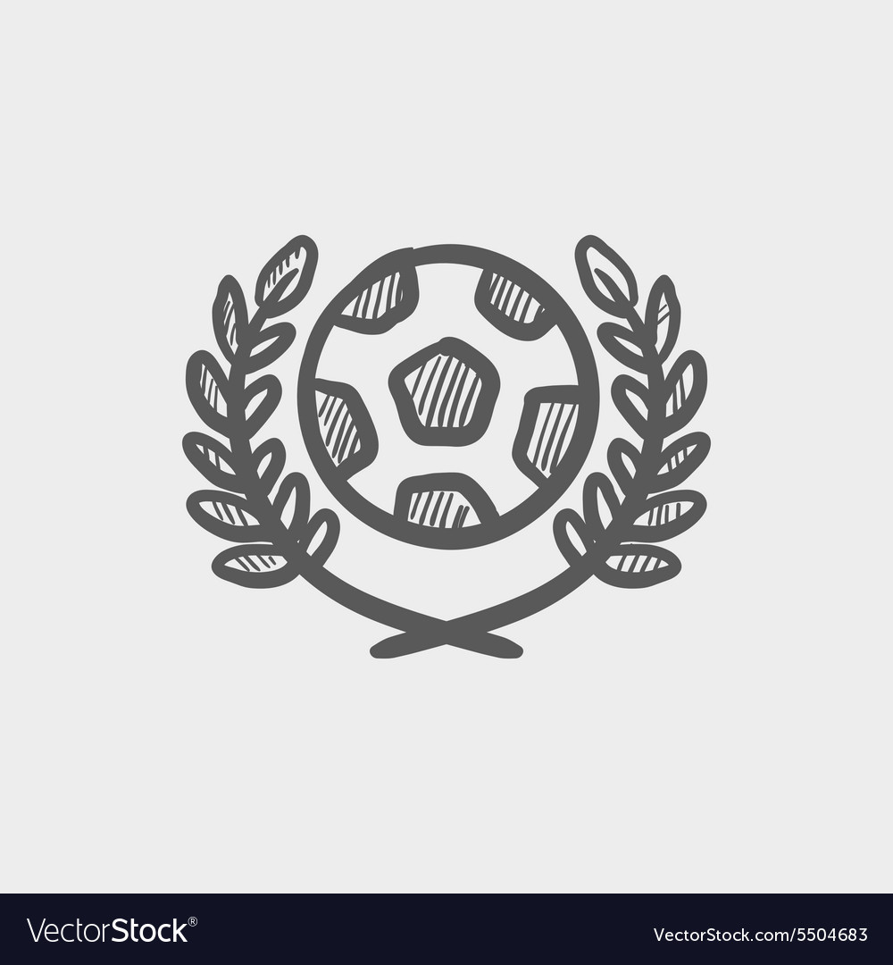 Sports soccer logo badges sketch icon vector