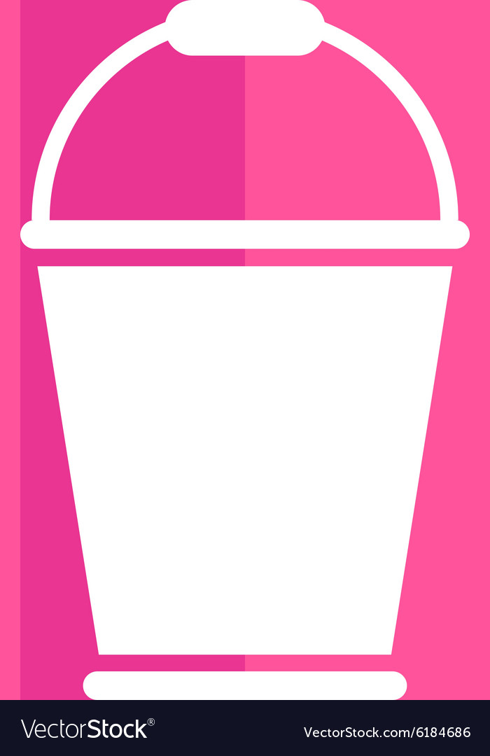 Bucket icon button logo symbol concept vector