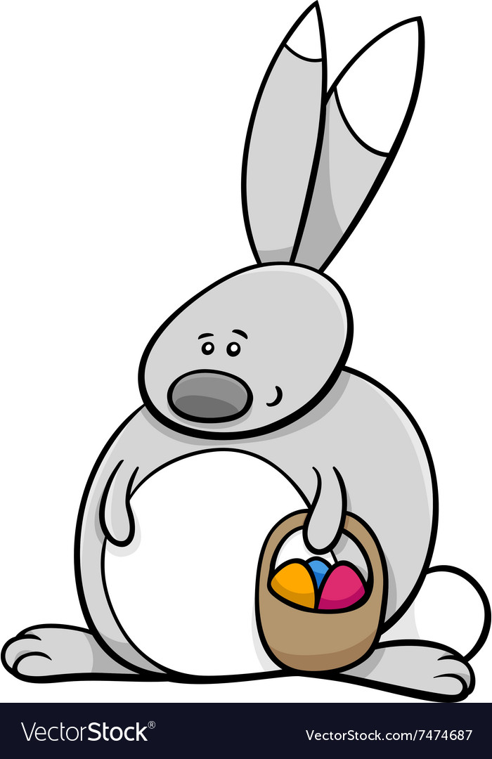 Easter bunny holiday cartoon vector