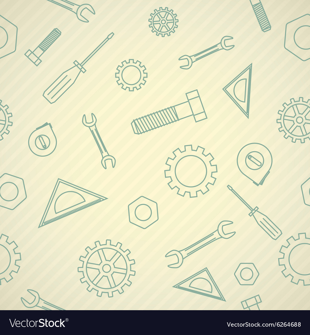 Mechanics icon pattern vector