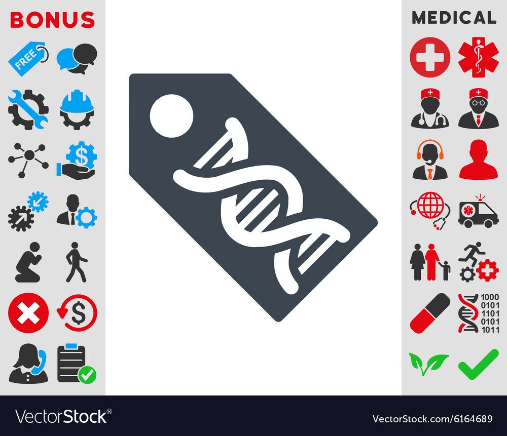 Dna marker icon vector