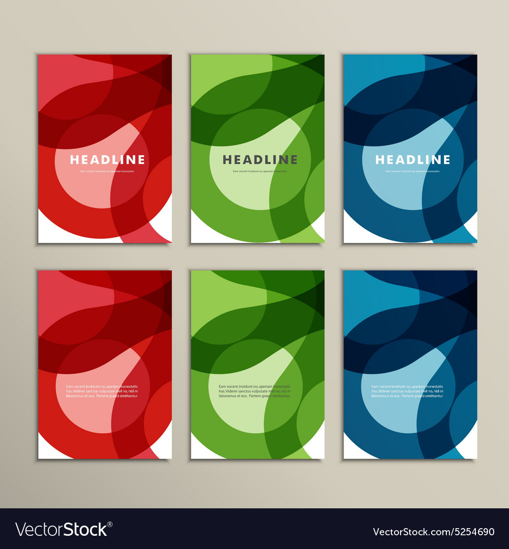 Set abstract color circle pattern vector