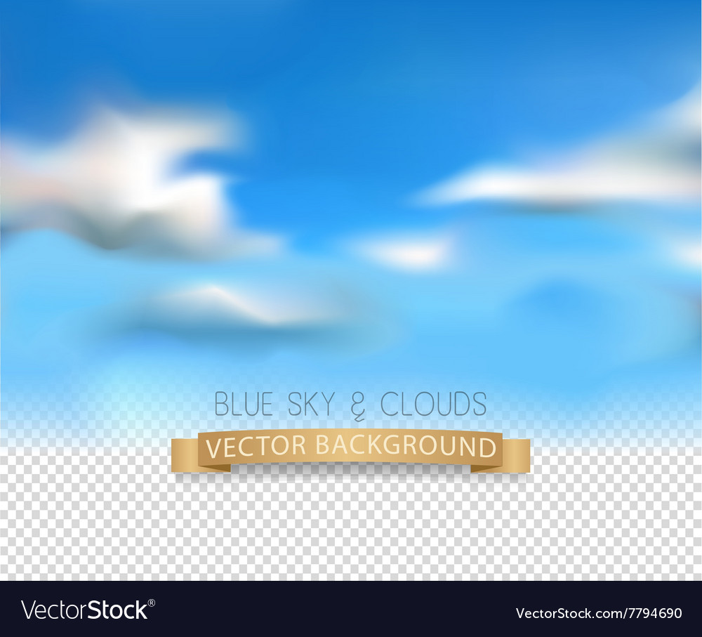 Template with a realistic sky and clouds vector