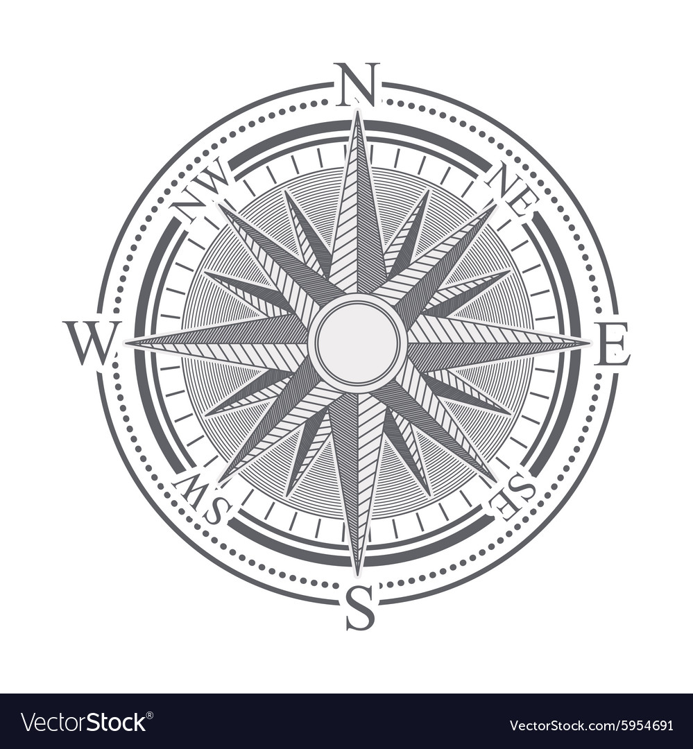Compass design vector