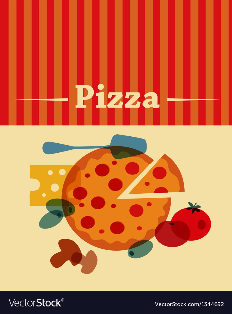 Template of pizza menu vector