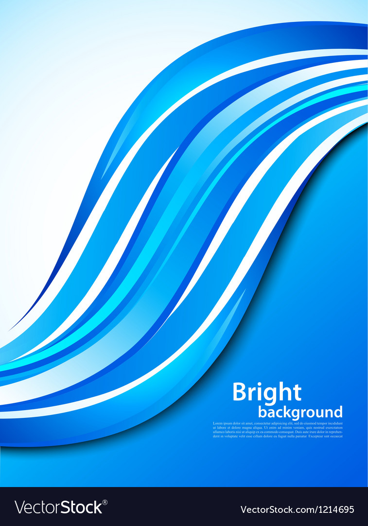 Background with blue wave vector