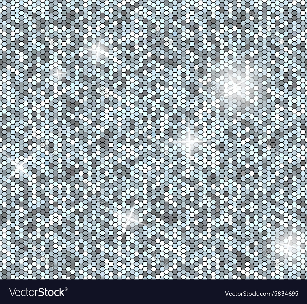 Silver seamless background with sequins glitter vector