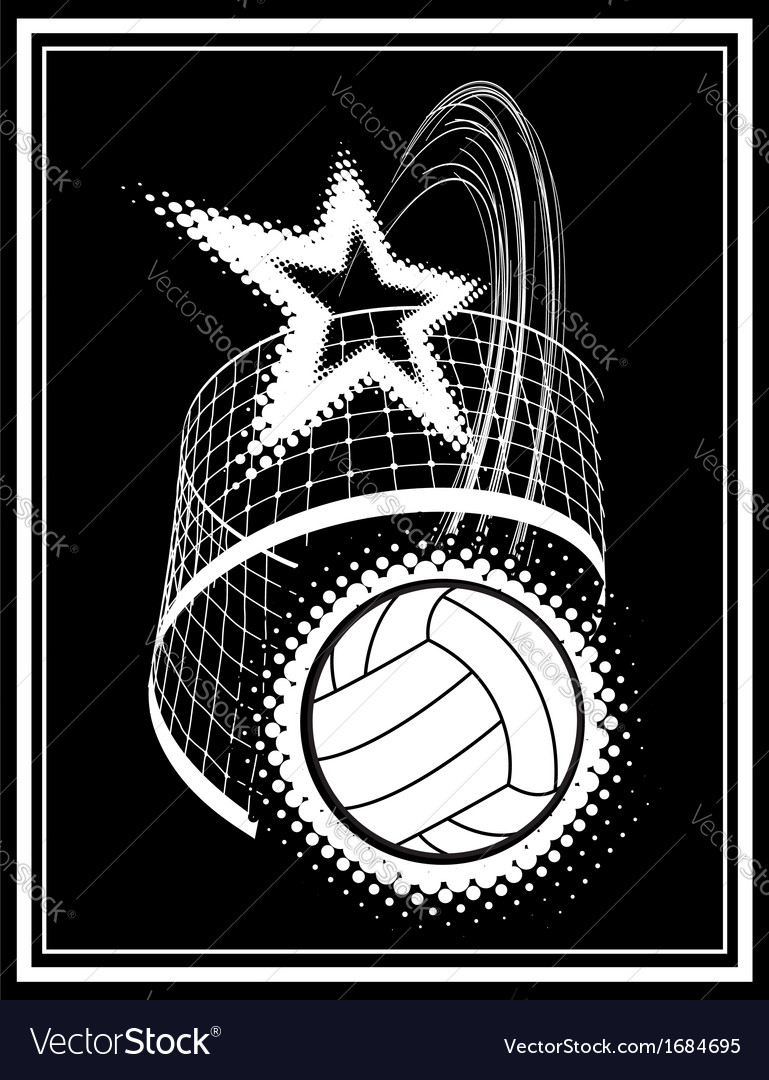 Volleyball sport vector