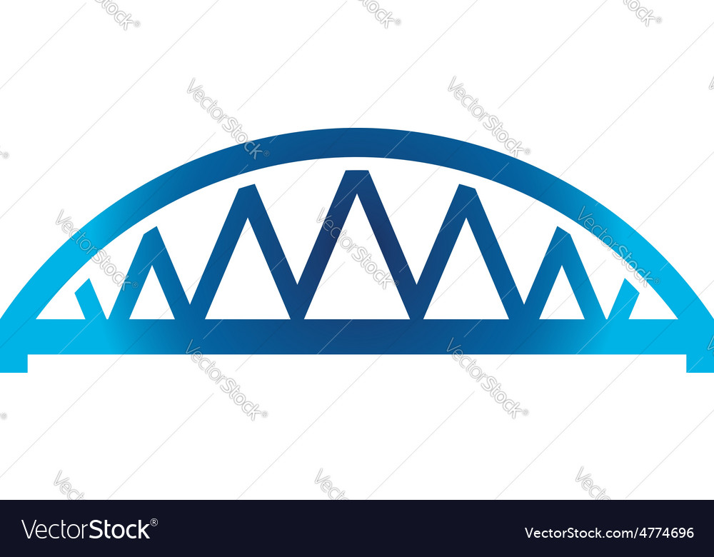 Arched bridge vector