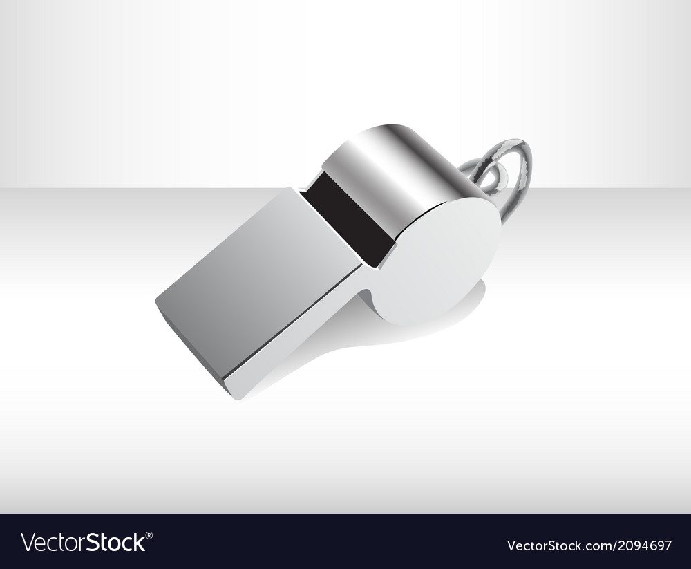 Metalic isolated whistle vector