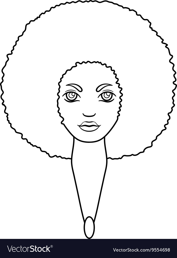 Portrait of a woman with dandelion hair in the vector