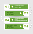 Infographics design with green banners vector image vector image