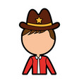 Male sheriff avatar character vector image
