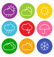 Colorful weather sign vector image vector image