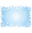 grunge snowflake border vector image vector image