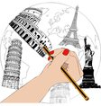 The designer of monuments vector image