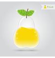 pear fruit juice vector image