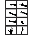 hands silhouette isolated vector image vector image