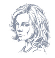 Artistic hand-drawn image black and white portrait vector image