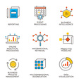 Career progress and business management - 7 vector image