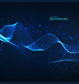 abstract glowing virtual neon wave with chaotic vector image