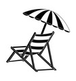 beach seat icon vector image