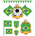 brazil flags vector image