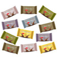 chocolate bar sets product package vector image