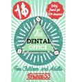 Color vintage dental poster vector image