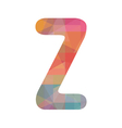 Colorful alphabet Z vector image