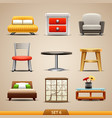furniture icons-set 6 vector image