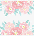 hand drawn abstract peony flowers vector image