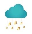 music notes isolated icon vector image