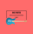 rock forever poster with blue acoustic guitar vector image