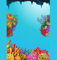 scene with coral reef underwater vector image
