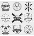 Set of camping equipment symbols and icons vector image