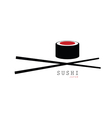 sushi japan icon vector image
