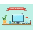 Workspace for freelancer and home work vector image