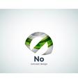 no concept prohibition logo template vector image vector image