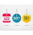 Sale tag set vector image